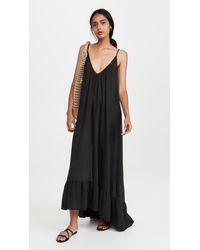 9seed Paloma Ruffle Maxi Dress - Black