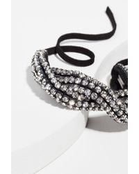 Isabel Marant - Knotted Strass Choker - Lyst