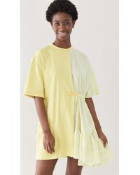 MSGM Shift Dress - Yellow