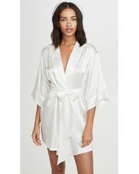 Kiki de Montparnasse Silk Robe - White