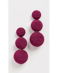 Rebecca de Ravenel Classic 3 Drop Earrings - Multicolour