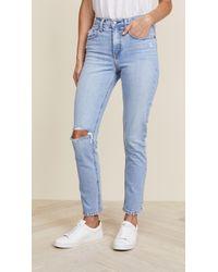 Nobody Denim - The True High Rise Slim Straight Ankle Jeans - Lyst
