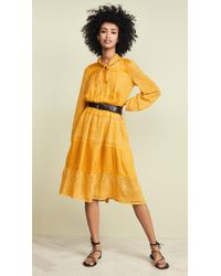 Free People Gemma Midi Dress - Yellow