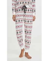 Pj Salvage Holiday Love Pants - White