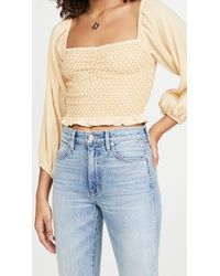 Spell Jesse Jane Cropped Blouse - Blue