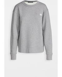Acne Studios Fairview Face Sweatshirt - Grey