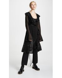 Marc Jacobs Redux Grunge Ruffle Dress With Jumpsuit Lining - Black