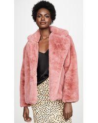 Apparis Manon Faux Fur Jacket - Pink