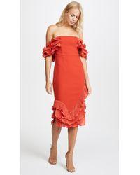 Talulah - Rosa Ruffle Midi Dress - Lyst