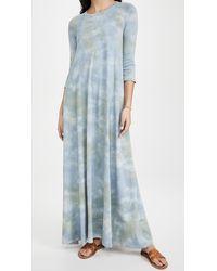 Raquel Allegra Drama Tie Dye Maxi Dress - Blue