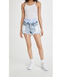 Alexander Wang Bite Shorts Flip Mix W Boxer - Blue