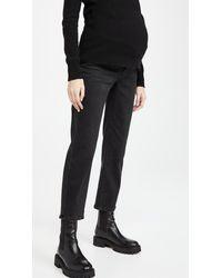 PAIGE Maternity Noella Straight Jeans - Black