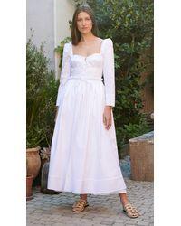 Rosie Assoulin Winter Garten Party Dress - White