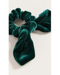 DANNIJO Margery Velvet Scrunchie - Green