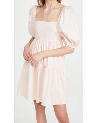 MINKPINK Issy Babydoll Smock Dress - Pink
