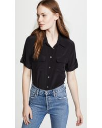 Equipment - Short Sleeve Slim Signature Blouse - Lyst