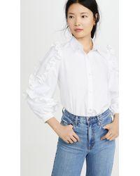 CLU Ruffle Detailed Shirt - White