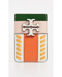 Tory Burch Mcgraw Pieced Card Pocket - Multicolor