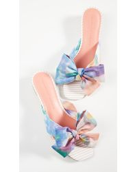 Cupcakes And Cashmere Ynez Bow Slides - Multicolor