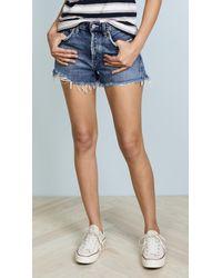 Agolde - Parker Vintage Loose Fit Cutoff Shorts - Lyst