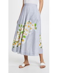 Isolda - Embroidered Rio Skirt - Lyst