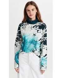 F.R.S For Restless Sleepers Turtleneck Top - Blue