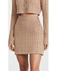JoosTricot Mini Skirt Virgin Wool - Natural