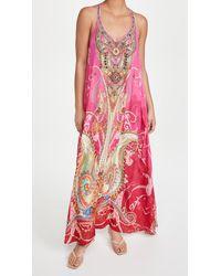Camilla V Neck Racerback Dress - Pink