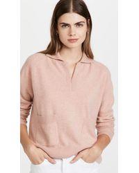NAADAM Cashmere Quarter Zip Jumper With Pockets - Pink