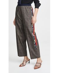 Kolor Side Stripe Check Trousers - Brown