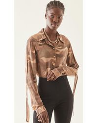 Dion Lee Camo Shirt - Brown