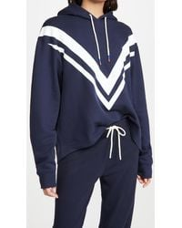 Tory Sport French Terry Chevron Hoodie - Blue
