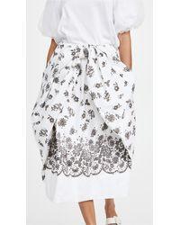 Simone Rocha Bow Front Skirt - White