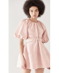Aje. Psychedelia Cut Out Mini Dress - Pink