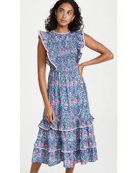 Shoshanna Taos Dress - Blue