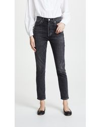 Citizens of Humanity Olivia High Rise Slim Ankle Jeans - Multicolor