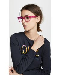 Matthew Williamson - Neon Pink Square Glasses - Lyst
