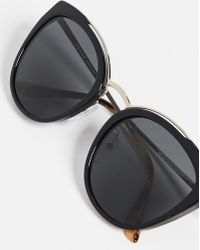 Prada Pr 20us Cat Eye Sunglasses - Black