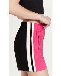Norma Kamali Side Stripe Boyfriend Sweatshorts - Multicolour