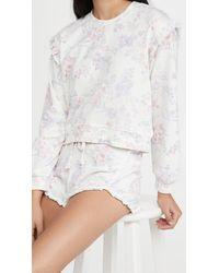 Generation Love Zoe Floral Ruffle Sweatshirt - White
