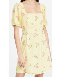 Glamorous Floral Mini Dress - Yellow