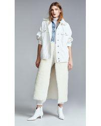 Natasha Zinko - Denim Shearling Oversized Ls Jacket - Lyst