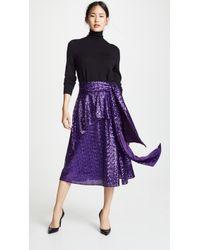 Prabal Gurung Nima Sequin Tie Waist Skirt - Purple