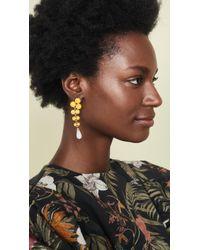 Ben-Amun Long Drop Earrings - Yellow