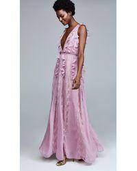 Glamorous - True Decadence Lace Ruffle Dress - Lyst