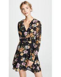 Re:named Floral Long Sleeve Dress - Black