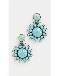 Elizabeth Cole Roscoe Earrings - Blue