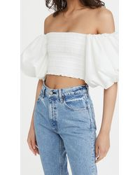 Aje. Cascade Cropped Top - White