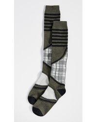 Ganni Ski Check Socks - Multicolour