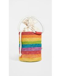 Poolside Bucket Bag With Lucite Handles - Multicolour